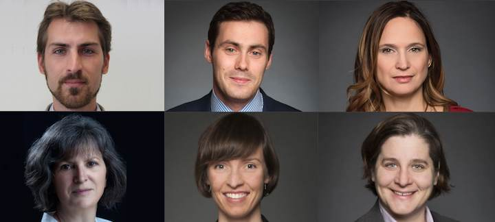 Dr. Wolfgang Alschner, Dr. Suzanne Bouclin, Prof. Thomas Burelli, Dr. Mary Cavanagh, Prof. Jena McGill and Prof. Amy Salyzyn.